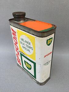 Ancien Bidon Dessence 2t Bp Zoom Déco Garage Vintage French Antique