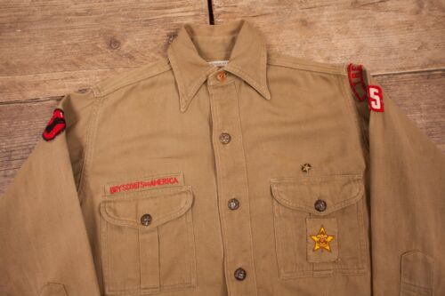 America Brown Womens Boy Bsa Twill 8350 Scouts 8 1940s Of Vintage Rx Shirt piccola wx0SqIa06