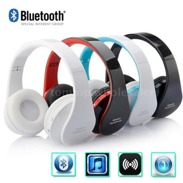 Wireless Bluetooth Foldable Headset Stereo Headphone Hands-free for iPhone PC