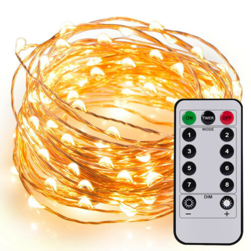 20ft 60LED Fairy String Lights String Copper Wire AA Battery Powered /& Control