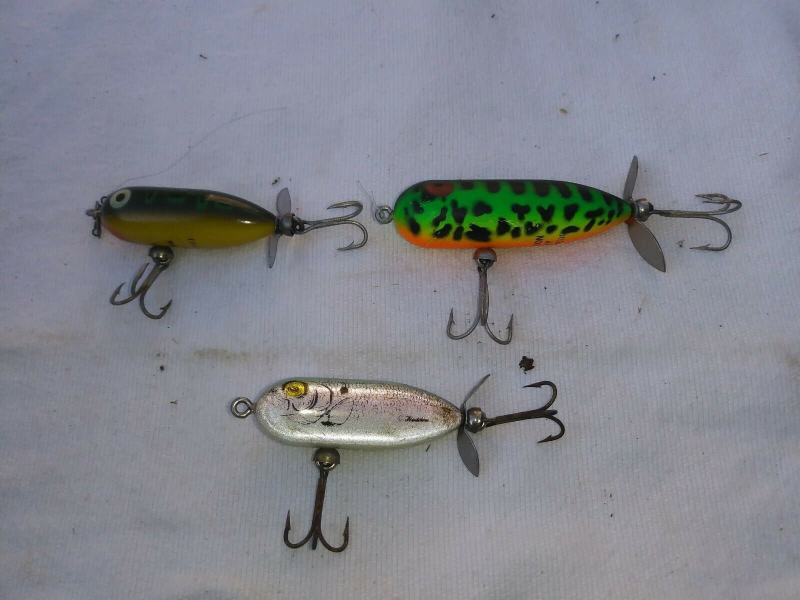 Lot of 3 Vintage HEDDON. Baby torpedo and  tiny torpedo.  perfect