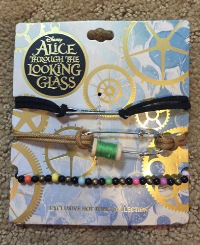 Disney Alice Through The Looking Glass Mad Hatter Thread Spool Bracelet Set