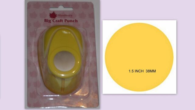 Woodware 1.5 inch Circle round hole lever Punch