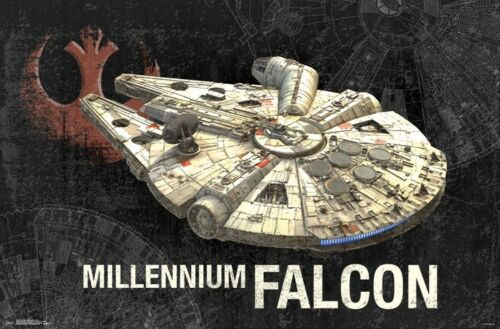 MILLENNIUM FALCON POSTER STAR WARS 22x34 MOVIE 15848