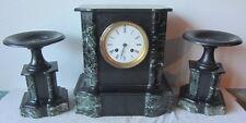 Antico orologio a pendolo /da tavolo con laterali- marmo  - funzionante