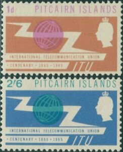 Pitcairn-Islands-1965-SG49-50-ITU-emblem-set-MLH
