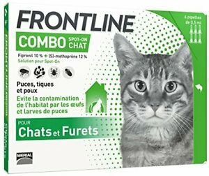 FRONTLINE Combo Chat - Anti Puces Anti Tiques 6 Pipettes
