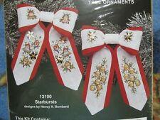 Mini Bow Ties Cross Stitch Tree Ornaments HOLIDAY Joy Christmas New JCA