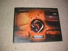MESA BOOGIE amplificatori 2003 catalogo chitarra DA COLLEZIONE PERSONALIZZATO studio sala di visualizzazione