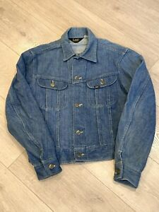 Vintage Lee Denim Trucker Jacket Made in the USA Womens Size Small/Medium
