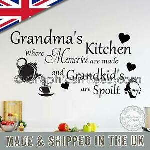 Grandma S Kitchen Wall Stickers Family