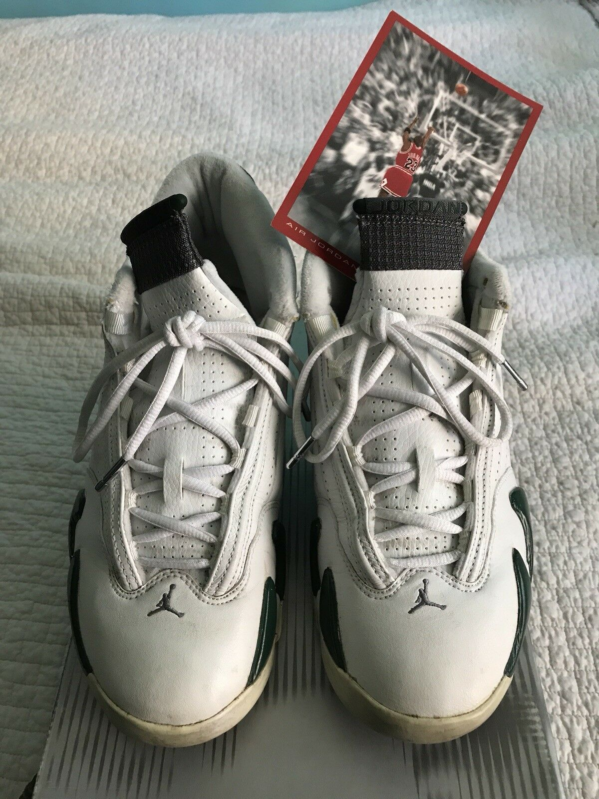AIR JORDAN 14 XIV FOREST GREEN SIZE 10 100% AUTHENTIC