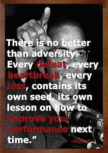 Image Is Loading Inspirational Cool Life Malcolm X Quotes Poster A0