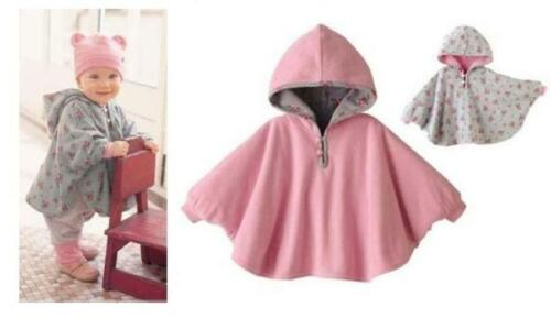 Baby Toddler Double-side Wear Kids Cape Cloak Poncho Coat Hoodie Outwear Ths01