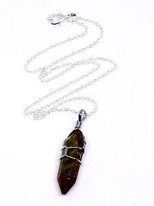 scarpe di separazione 5f1af 8aab7 Dettagli su Unakite Punto Ciondolo guarigione punto Chakra collana con  pendente pietra gioielli- mostra il titolo originale