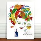 "Vintage French Perfume Poster Art ~ CANVAS PRINT 8x10"" Parfums Bourjois"