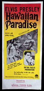 ELVIS PRESLEY ORIGINAL FILMPLAKAT SÜDSEE PARADIES 1967 Paradise Hawaiian Style