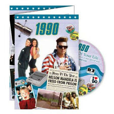 27th Birthday Gifts - 1990 Time of  Life DVD and 1990 Retro Card - CD Card Com.
