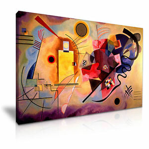 Yellow Red Blue ~ Wassily Kandinsky Canvas Modern Wall Art Home Deco ...