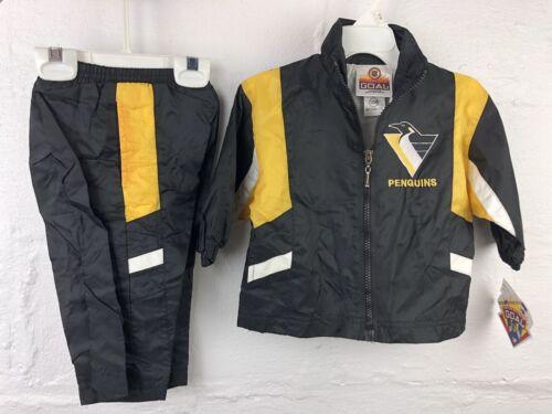Details about  /NWT NEW VTG Pittsburgh Penguins Track Jacket Pants Kids Infant Baby Toddler 12M