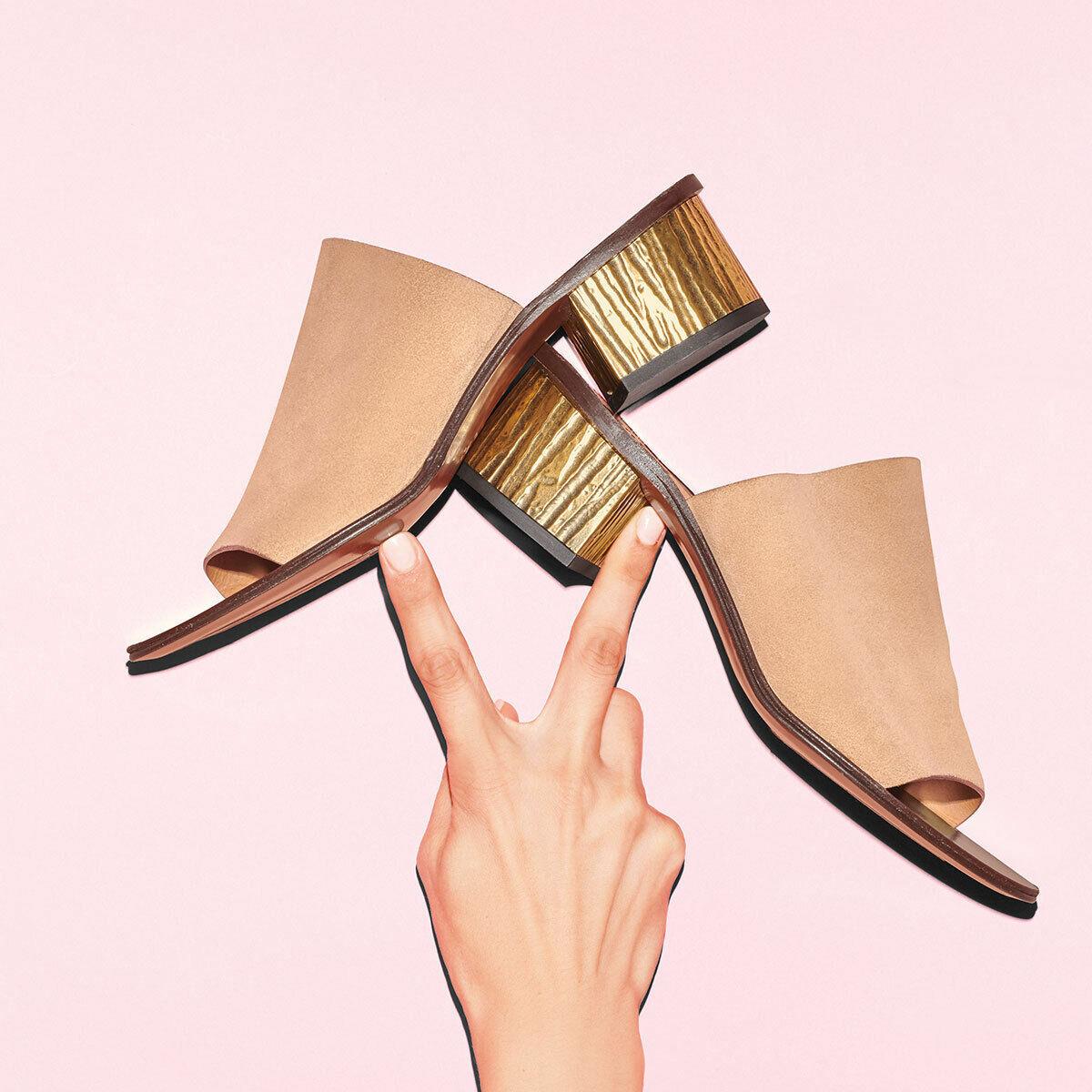 Chloe Qassie Beige  Suede Heeled Mules Sandals Slides Dimensione 40  negozio di sconto