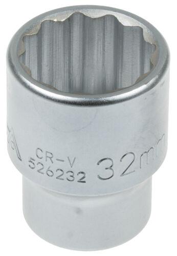 Cannelé Douille 12 pans 3//4 pouces SW 32 mm Fourre-Ecrou Outil