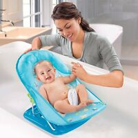 Summer Infant Baby Bath Bather Chair Seat Blue Adjustable 18500 Folding
