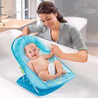 Summer Infant Baby Bath Bather Chair Seat Blue Adjustable 18500 Folding