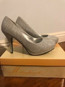 Michaelangelo-For-Davids-Bridal-Wedding-Shoes-Size-8-Silver