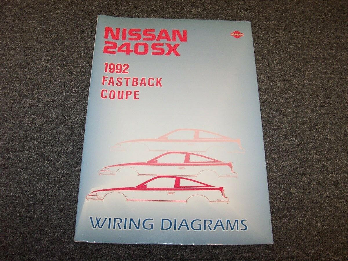 1992 nissan 240sx coupe & fastback electrical wiring diagram manual le se  2.4l | ebay  ebay