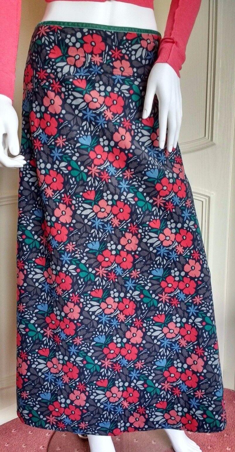 SEASALT Pentire Point Skirt Kaye's Floral Multi Maxi length Cord skirt RRP