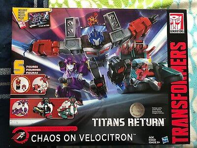 Transformers Titans Return Chaos on Velocitron New Sealed TRU Exclusive Rare