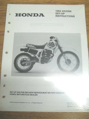 94 Honda Xr200r Set Up Instructions Wiring Diagram