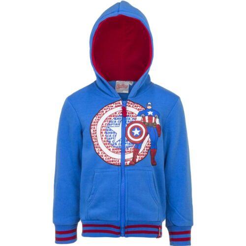 Kinder Jungen Sweatjacke Avengers Jacke Freizeitjacke blau grau 104-140 #271