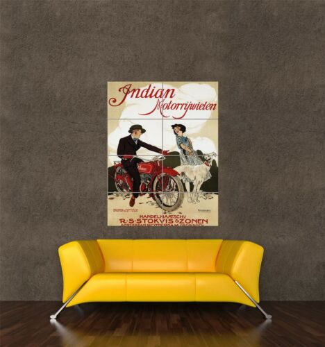 GIANT PRINT POSTER VINTAGE ADVERT TRANSPORT MOTORCYCLE NETHERLANDS PDC213