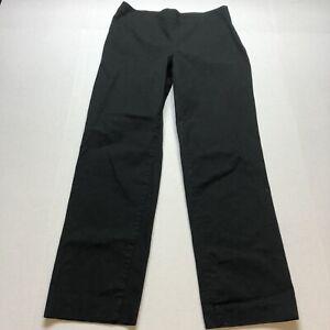 Talbots Classic Side Zip Black Straight Leg Dress Pants Size 4 A1395