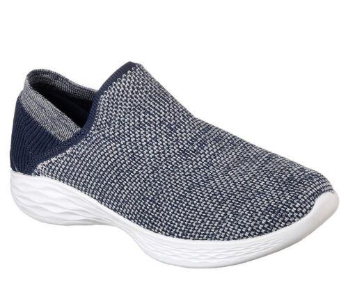 NEU SKECHERS Damen Sneakers Slipper Freizeitschuhe Sommerschuhe YOU RISE Blau