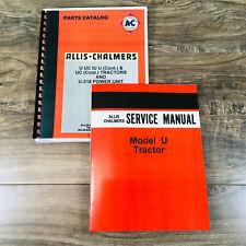 Allis Chalmers U Uc Tractors Service Parts Manual Catalog Set