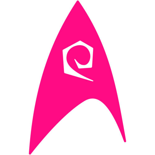 "Star Trek Engineering Fleet Insignia Badge 3/"" Vinyl Decal Car Window Sticker v2"