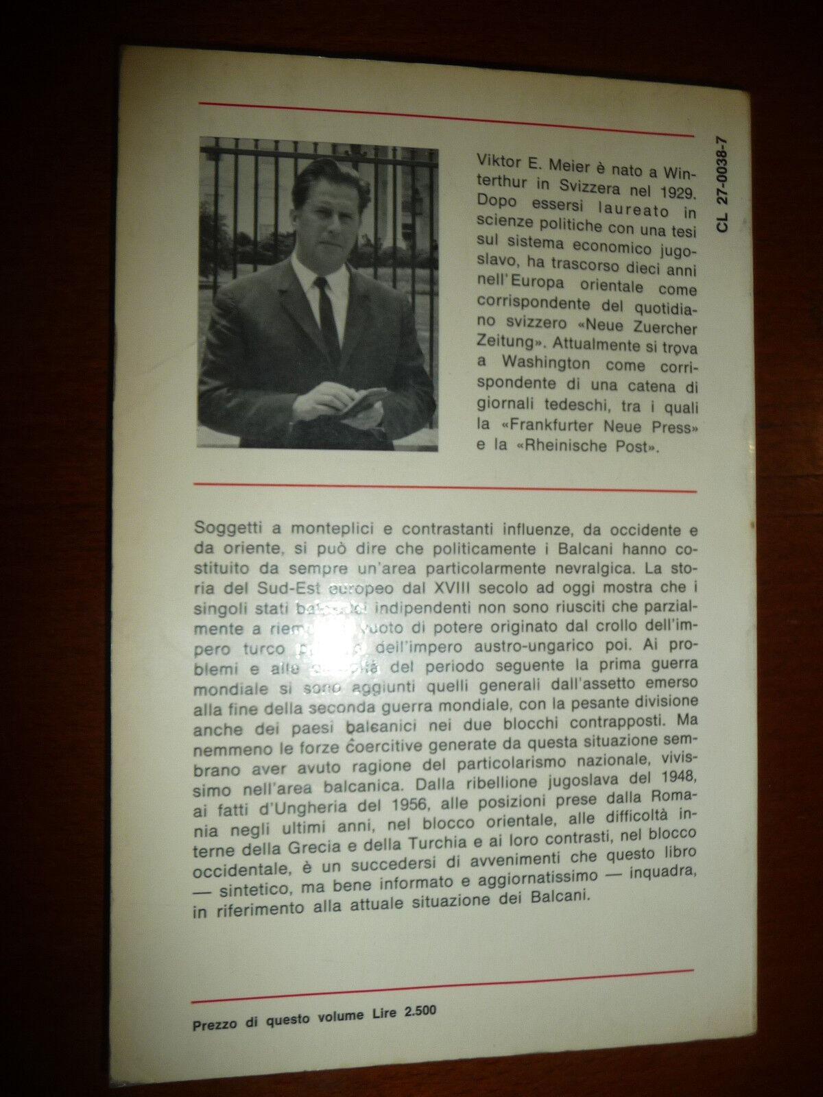 LA RINASCITA DEL NAZIONALISMO NEI BALCANI VIKTOR E . MEIER I PROBLEMI DEI BALCAN