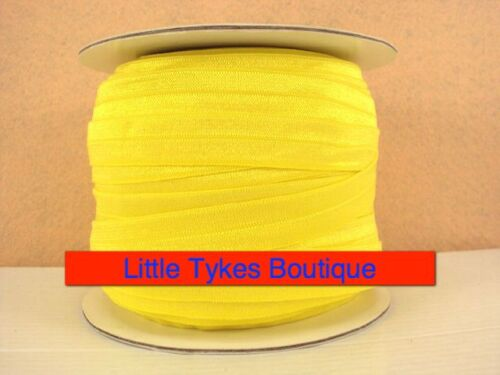 """Yellow Elastic Ribbon 5//8/"""" 2m for only £0.99"""