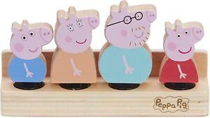 Peppa-Pig-de-Peppa-Madera-Familia-Figuras-Set-De-4-amp-Madera-Base-Figura-Juguete