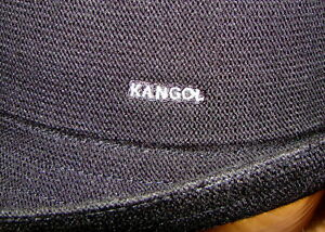 Image is loading KANGOL-Black-Bamboo-Arnold-Trilby-Hat 3c83e458950