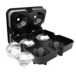 Silicone-Ice-Cube-Tray-Diamond-Shape-3D-Ice-Cube-Mould-4-Cavity-Ice-Ball-Maker