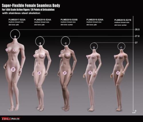 In-Stock 1//6 Scale Phicen TBLeague Short Asian Female Body S27B