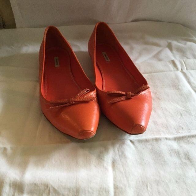 Miu Miu Miu Miu mujer Mya Talla 36.5 6.5 7 Naranja Zapatos Bajos Zapatos Mocasines zapatos de ballet  comprar barato