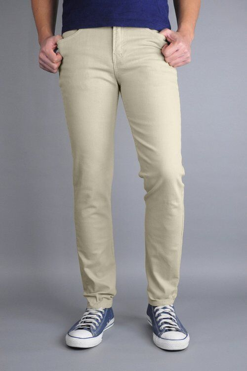 Neo bluee Khaki Skinny Jeans 98% Cotton 2% Spandex Made In USA