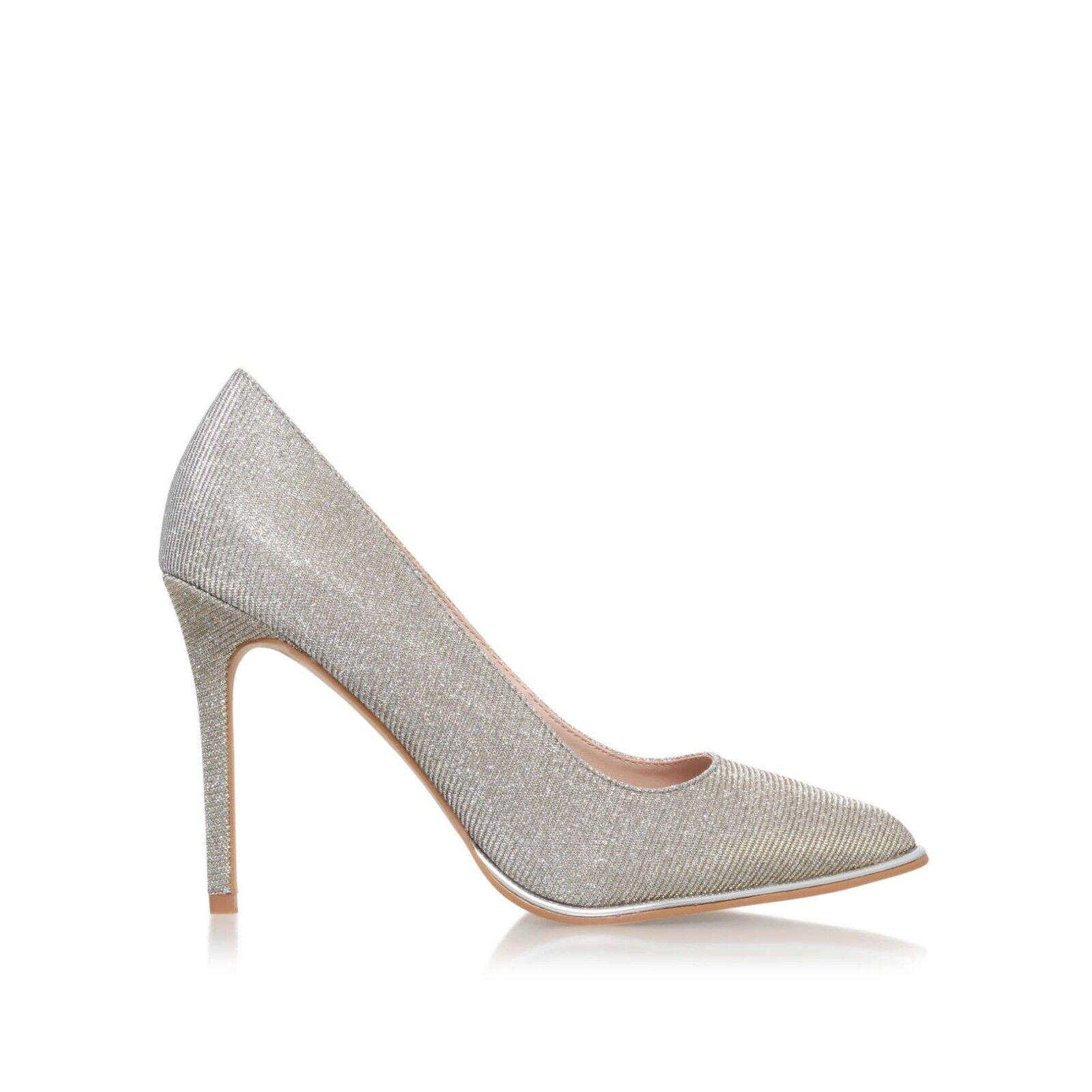 KG Kurt Geiger Metallic Silver Ombre High Heel Court Schuhes Größe 6 EU39 BNIB