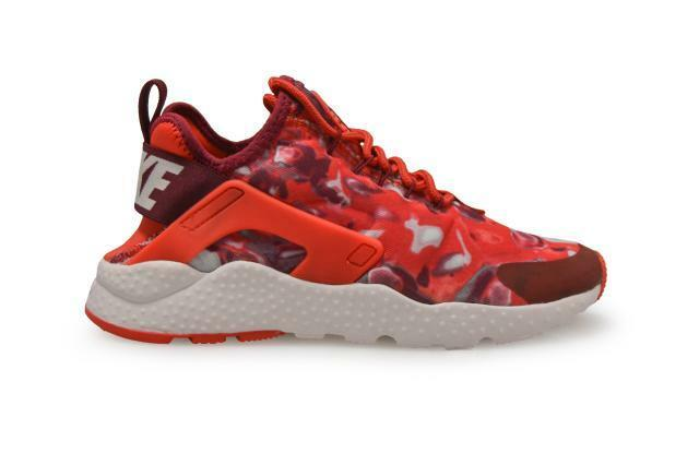 Womens Nike Air Huarache Run Ultra Print - 844880 600- Light Crimson Red Pink Tr