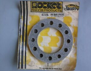 "Vintage Rocket Racing 1/4"" Disc Brake SPACERS for 6-Lug Truck Wheels hot rat rod"